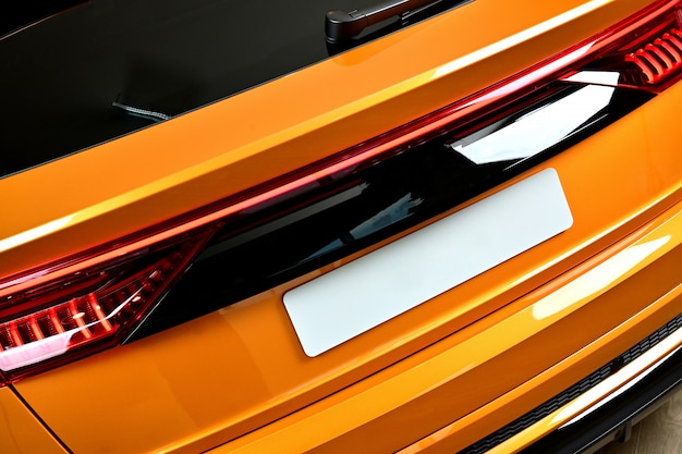 Carro de close-up suv com esporte e estilo moderno