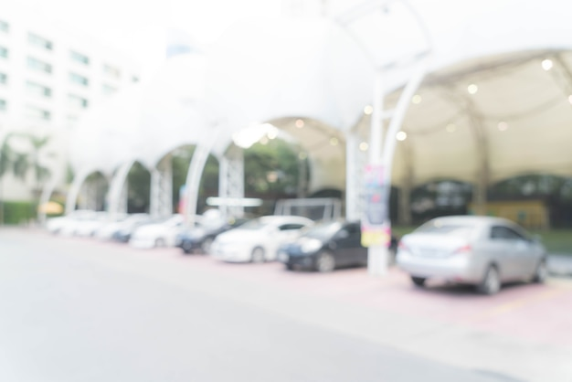 Carro de estacionamento borrado abstrato