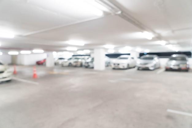Carro de estacionamento turva abstrata