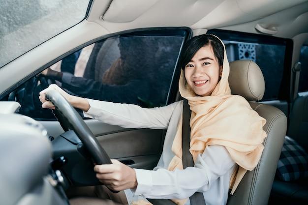 Carro de mulher muçulmana