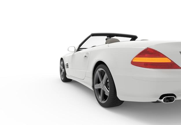 Carro de volta branco