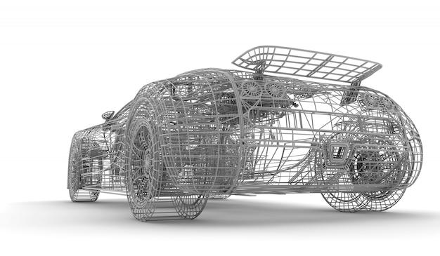 Carro de wireframe