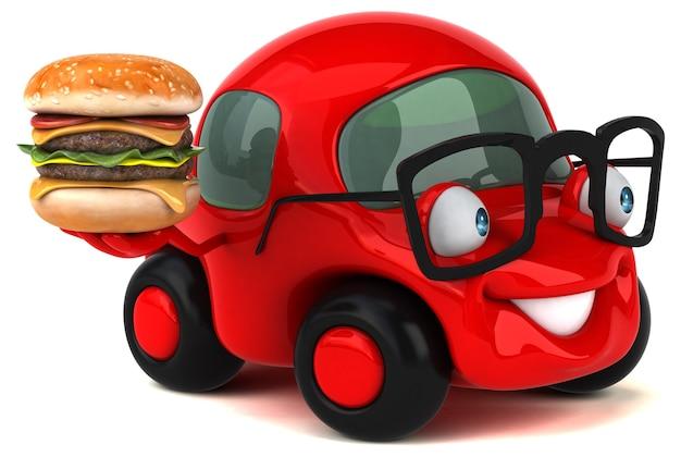 Carro divertido - personagem 3d