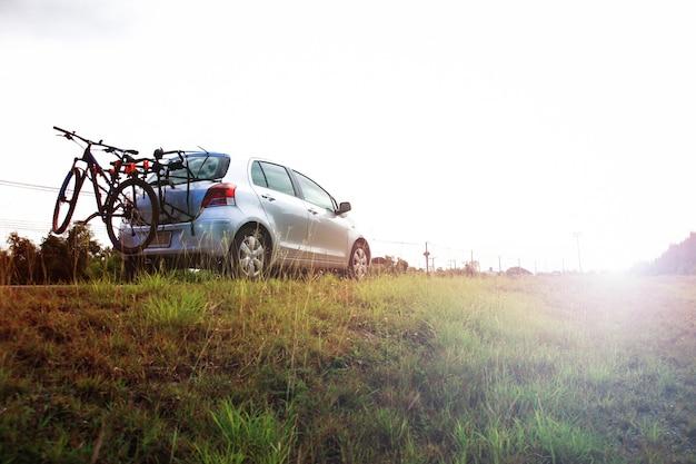 Carro dobrável de bicicleta para exercitar