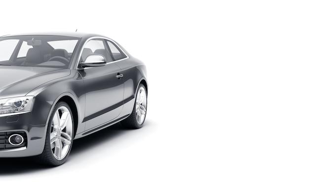 Carro esporte de luxo genérico isolado em uma superfície branca