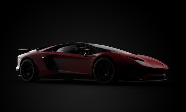 Carro esporte moderno vermelho genérico e sem marca