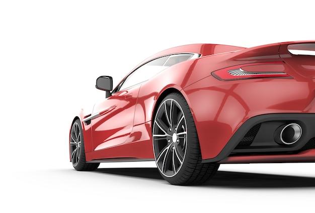 Carro esporte vermelho isolado no branco