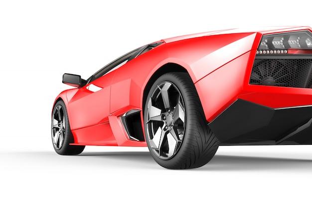 Carro esportivo de luxo vermelho