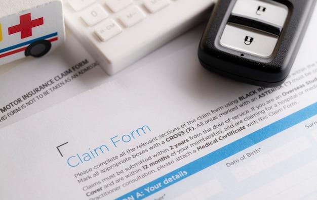 Carro remoto e formulário de reclamação
