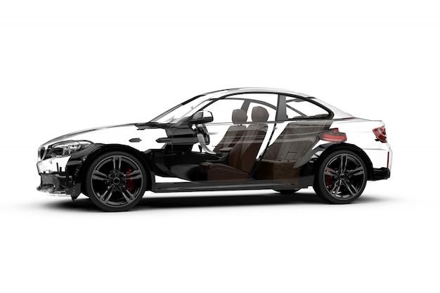 Carro transparente lateral em branco