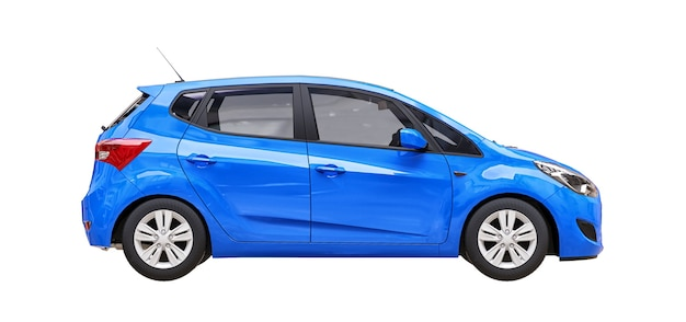 Carro urbano azul com superfície em branco para seu design criativo
