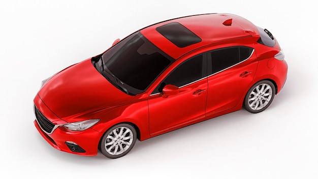 Carro urbano vermelho com superfície em branco para seu design criativo