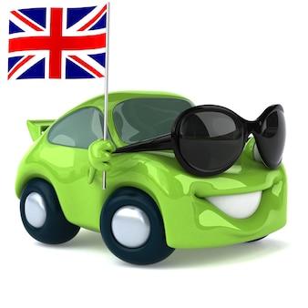 Carro verde - ilustração 3d