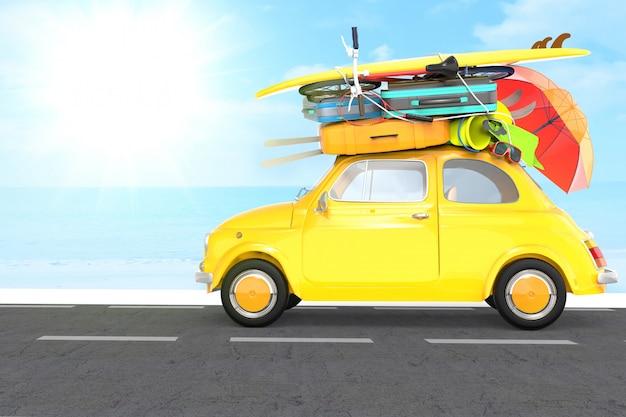 Carro viajando para férias de verão