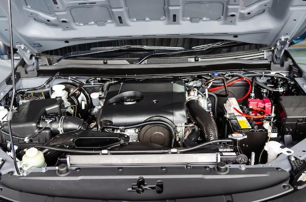 Carros de motor de detalhe