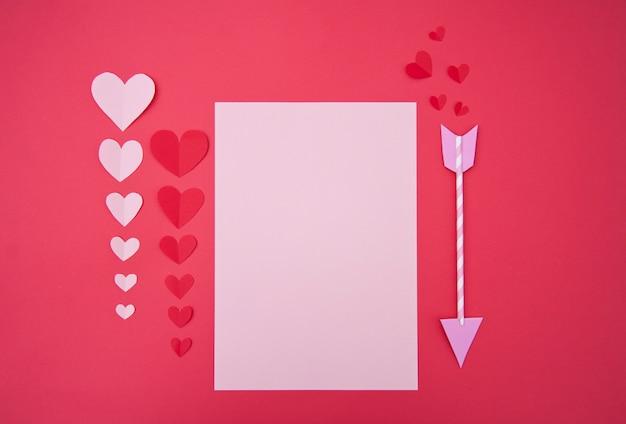 Carta de amor - conceito de são valentim
