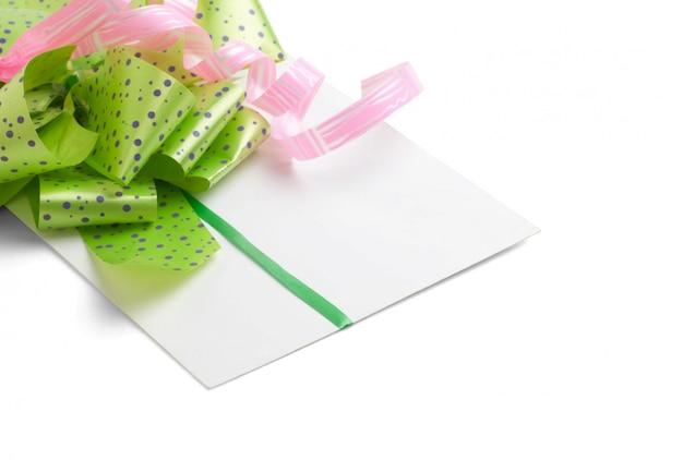 Carta de felicitações para dia dos namorados isolado
