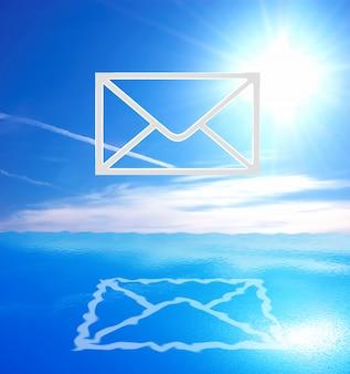 Carta desenhada no céu