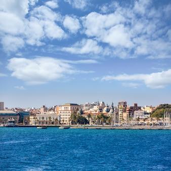 Cartagena skyline murcia no mediterrâneo espanha