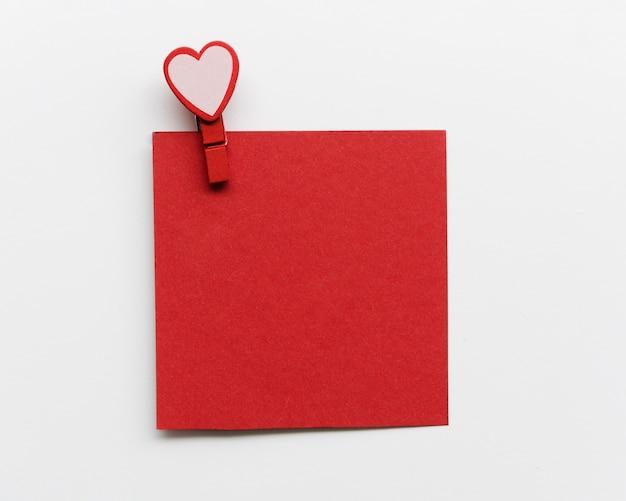 Cartão com gancho de coração