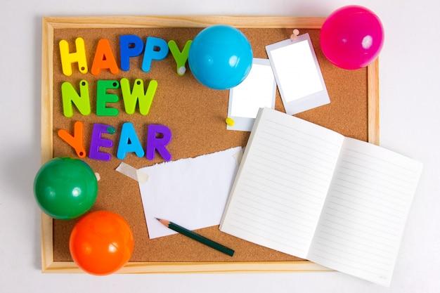 Cartão de ano novo a bordo