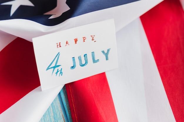 Cartão de artesanato para o dia da independência