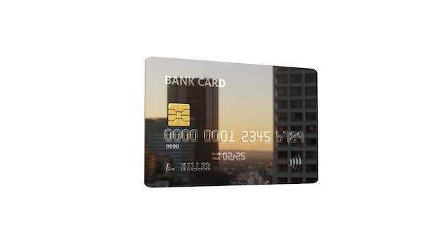 Cartão de banco metalic