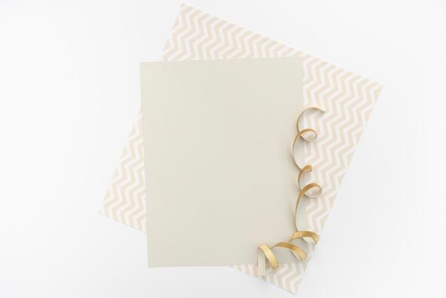 Cartão de casamento mock-up plana