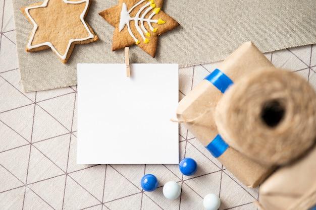 Cartão de cópia espaço do festival tradicional feliz hanukkah