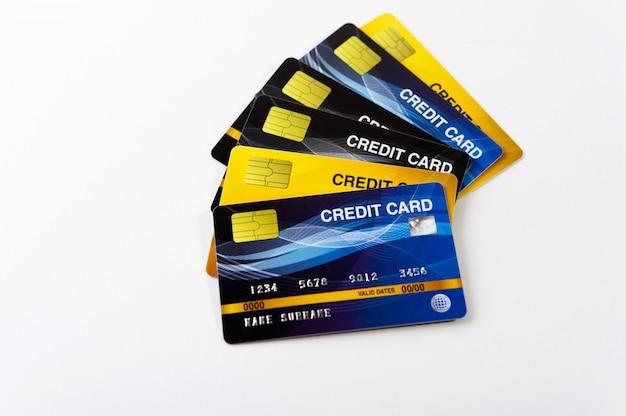 Cartão de crédito, cartão de débito cartões para fazer negócios on-line bancos e finanças