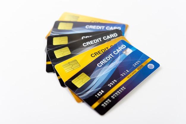 Cartão de crédito, cartão de dinheiro cartões para fazer negócios on-line