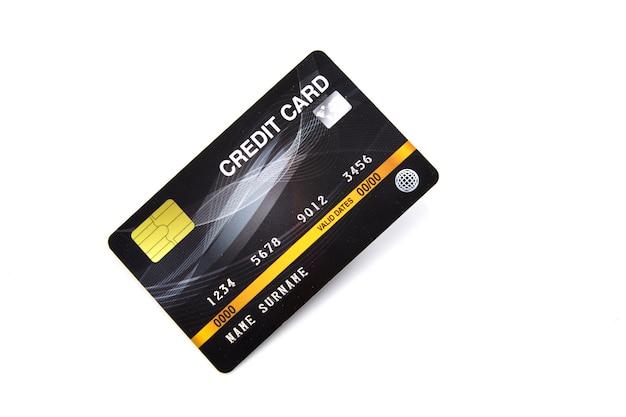 Cartão de crédito do banco preto