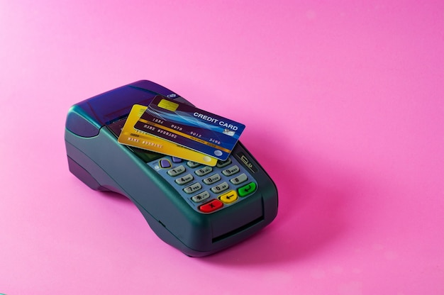 Cartão de crédito e scanner de cartão de crédito