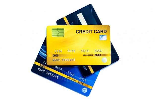 Cartão de crédito isolado