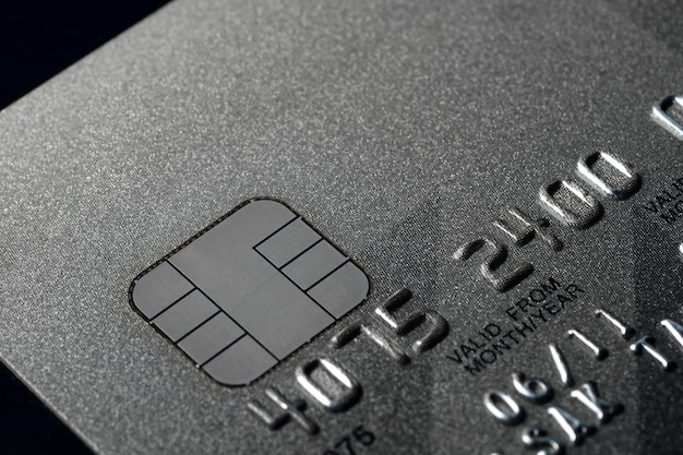 Cartão de crédito mais próximo para uso em segundo plano como ilustração para apresentação