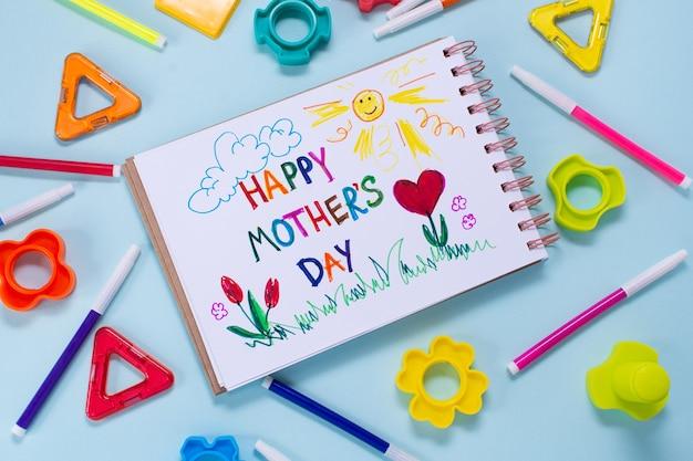 Cartão de dia das mães feito por criança