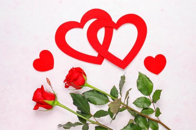 Cartão de dia dos namorados com rosas