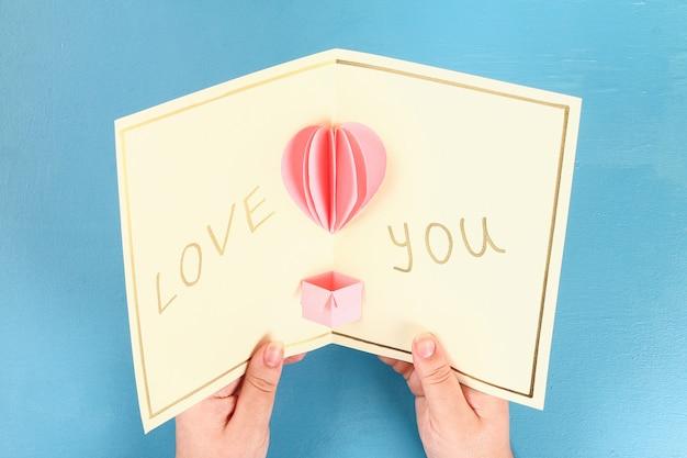 Cartão de dia dos namorados diy em 14 de fevereiro