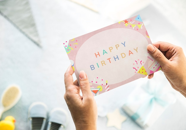 Cartão de feliz aniversário para seu filho