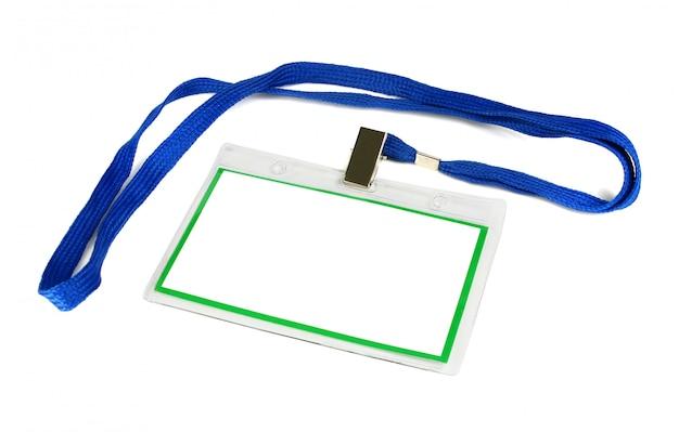 Cartão de identificação maquete vazia