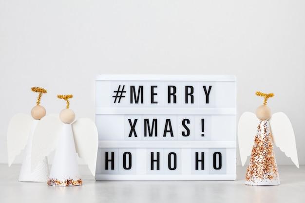 Cartão de natal com caixa de luz