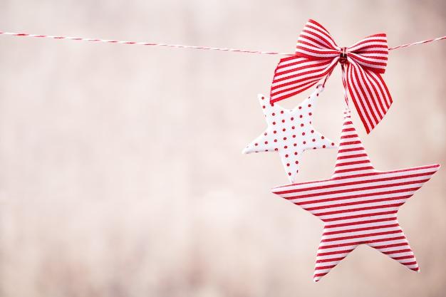 Cartão de natal com decorações rústicas de natal