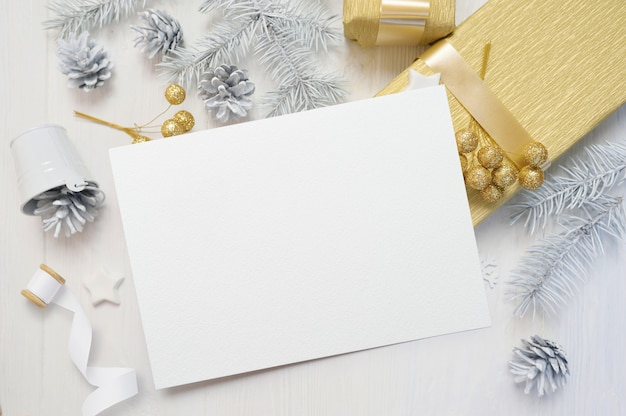 Cartão de natal e decoração de natal