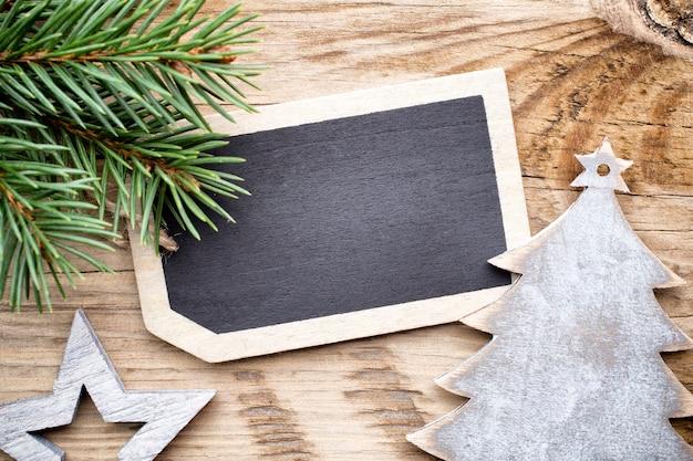 Cartão de natal e decorações