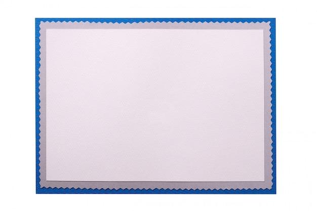 Cartão de natal liso em branco quadro isolado
