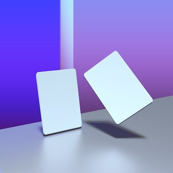 Cartão de negócios simulado. 5