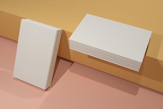 Cartão de negócios simulado. 9