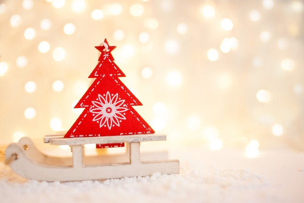 Cartão de presente com um ano novo e natal