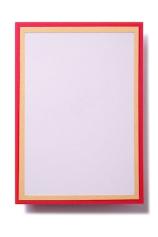 Cartão de presente de natal com armação de borda vermelha
