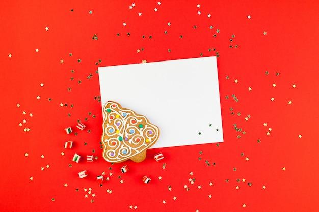 Cartão de saudação de natal com glitter